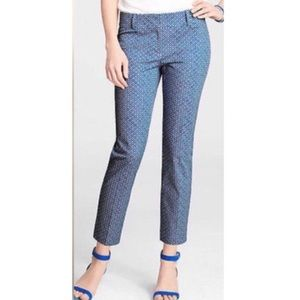 NEW ANN TAYLOR Carnegie Crop Pant in Blue Diamond